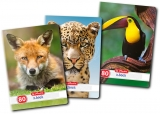 Caiet A4, 80 file, 70g/mp, dictando, Animals Herlitz