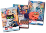 Caiet A5, 48 file, 70g/mp, dictando, Crazy Cats Herlitz