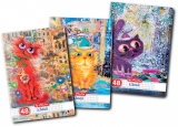 Caiet A5, 48 file, 70g/mp, matematica, Crazy Cats Herlitz