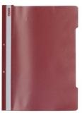 Dosar cu sina A4 PP, perforat, culoare rosu, Herlitz
