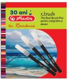 Carioci cu varf de pensula 6+1 culori/set, X.Brush Herlitz