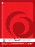 Caiet cu spira A5, 80 file, 70g/mp, matematica, Herlitz
