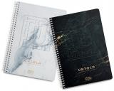 Caiet cu spira A4, 100 file, 70g/mp, matematica, Untold Herlitz