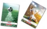 Caiet A4, 80 file, 70g/mp, matematica, colturi rotunjite, Fotbal Herlitz