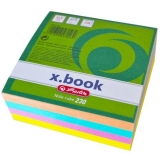 Bloc notite color, 8 x 8 x 3 cm, 230 file Herlitz