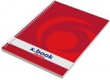 Caiet cu spira A5 80 file X.Book, aritmetica, 4 buc/set Herlitz