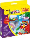 Set plastilina iClay 4 culori/set Amos