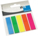 Index separator 50 x 12 mm 25 file neon Info Notes