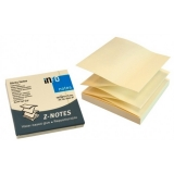 Notite adezive Z-notes galben pastel 75 mm x 75mm 100 file/set Info Notes