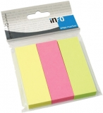 Index separator 75 x 25 mm neon 100 file/set Info Notes