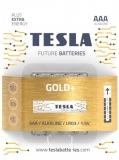 Baterie alcalina LR03 (AAA) Gold+, 4 buc/blister Tesla