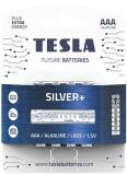 Baterie alcalina LR3 (AAA) Silver+, 1.5V, 4 buc/blister Tesla