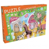 Puzzle Recunoastere Ferma, 35 piese Noriel