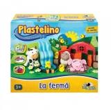 Set de plastelina mare La ferma Plastelino