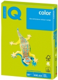 Hartie copiator IQ color neon A3 green 80 g/mp, 500 coli/top