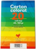 Carton colorat A4, 10 culori, 160 gr, 20 coli/set Exte