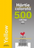 Hartie colorata A5 Yellow 80 gr 500 coli/top EXTE
