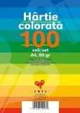 Hartie colorata 10 culori A4 80 gr 100 coli/set EXTE