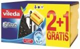 Burete vase antibacterian Glitzi, 2 + 1 gratis Vileda