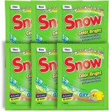 Pudra pentru indepartarea petelor Color Bright, 120 g, 3 + 3 gratis Snow