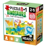 8+1 Puzzle Dinozauri Headu