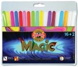 Carioci Magic 16+2 culori/set Koh-I-Noor