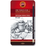 Set creioane grafit Toison D or Art 8B-8H Koh-I-Noor