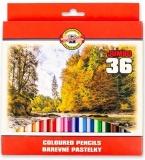 Creioane colorate Omega Jumbo 36 culori/set Koh-I-Noor