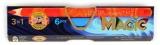 Creioane colorate triunghiulare Magic Jumbo 6 culori/set Koh-I-Noor