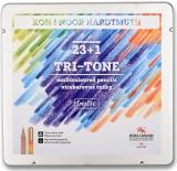 Creioane color Tri Tone cu mina multicolora 24 buc/set Koh-I-Noor