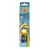 Creioane colorate 6 culori Girafa Koh-I-Noor
