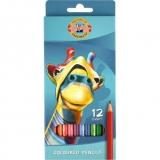 Creioane colorate, Girafa, 12 culori Koh-I-Noor