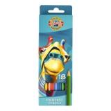 Creioane colorate 18 culori Girafa Koh-I-Noor