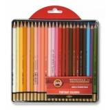 Creioane colorate Aquarell Mondeluz, cutie metal, portret, 24 culori/set Koh-I-Noor