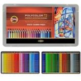 Creioane colorate Polycolor, cutie metal, 72 culori/set Koh-I-Noor