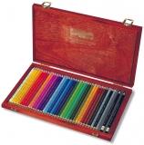 Creioane colorate Polycolor, cutie lemn, 36 culori/set Koh-I-Noor