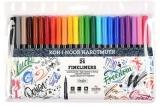 Fineliner 24 culori/set Koh-I-Noor