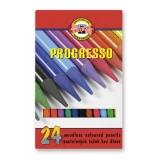 Creion color fara lemn 24 culori/set Progresso Koh-I-Noor