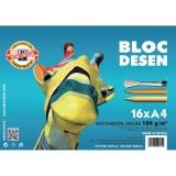 Bloc desen A4 Girafa 180 gr/mp Koh-I-Noor