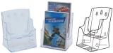 Display plastic pentru brosuri, 2 x A5, transparent Kejea
