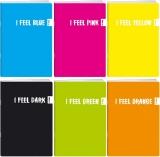 Caiet A5, FEEL PP, velin, 42 file, 80g/mp, diverse culori Koh-I-Noor