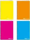 Caiet A4, FEEL PP, velin, 42 file, 80g/mp, diverse culori Koh-I-Noor