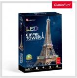 Puzzle 3D Led Turnul Eiffel 82 Piese Cubicfun