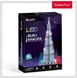 Puzzle 3D Led Burj Khalifa 136 Piese Cubicfun