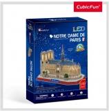 Puzzle 3D Led Note Dame 149 Piese Cubicfun