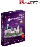 Puzzle 3D Led Castelul Neuschwanstein 128 Piese Cubicfun