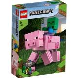 Porc cu Bebelus zombi 21157 LEGO Minecraft
