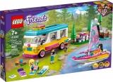 Furgoneta de camping si barca cu panze 41681 LEGO Friends