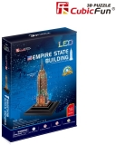 Puzzle 3D Led Empire State Building 38 Piese Cubicfun