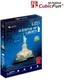 Puzzle 3D Led Statuia Libertatii 37 Piese Cubicfun